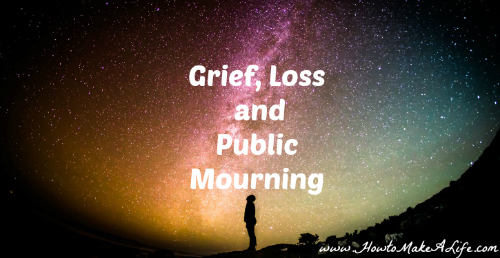There is a difference between grief and public mourning.