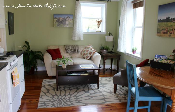 Crescent Moon Cottage Living Room