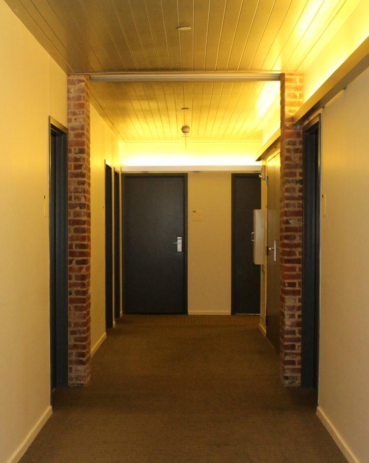 hallway 21c Museum Hotel Louisville
