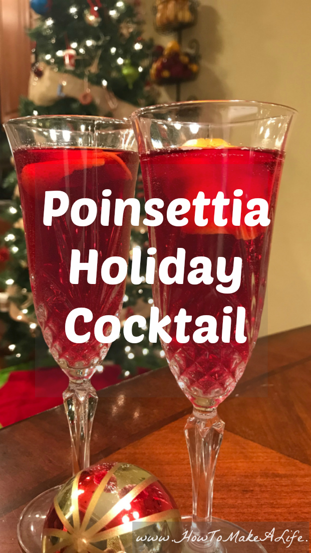 Poinsettia Holiday Cocktail